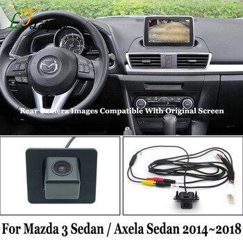 For Mazda 3 Mazda3 Axela Sedan BM BN 2014 2015 2016 2017 2018 OEM Screen Compatible HD Car Rear View Reverse Camera DIY Easy