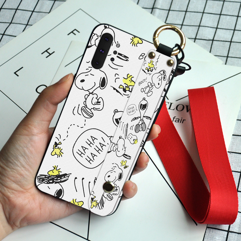 Luxury Wristband Silicone Cases For Samsung Galaxy Note 8 9 10 Pro S8 S9 S10 Plus S10E 5G S11 Cute Dog Cartoon TPU Cover