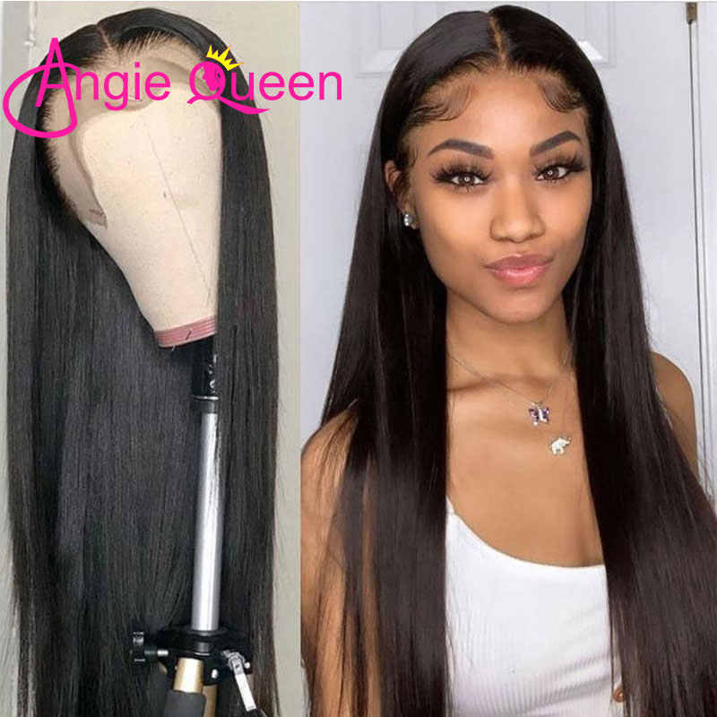 360 koronkowa peruka z przodu proste włosy ludzkie peruki prosto 360 koronkowa peruka proste włosy ludzkie koronkowe peruki wstępnie oskubane angie queen peruki