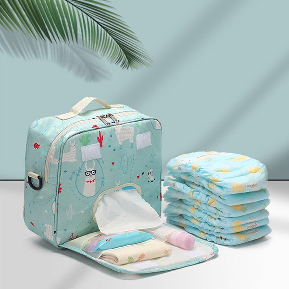 Sacs à couches pour bébé jetables   Sac de maternité pour empreintes de mode, sac à couches sec humide, sacs à eau à Double poignée, sac dallaitement