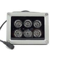 80m CCTV LED 6 piezas luz IR CCTV llenar LED iluminador infrarrojos lámpara IP66 850nm impermeable noche visión para cámara CCTV