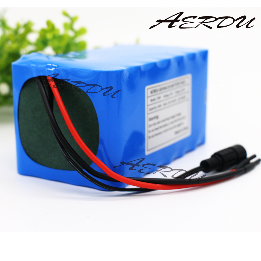 AERDU 7S4P 10Ah 18650 24V 25.9V <font><b>29.4V</b></font> lithium <font><b>battery</b></font> pack electric bicycle unicycle ebike <font><b>Li</b></font>-<font><b>ion</b></font> <font><b>batteries</b></font> built-in 15A BMS image