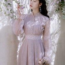 Новая мода Женская одежда по щиколотку винтажное женское платье