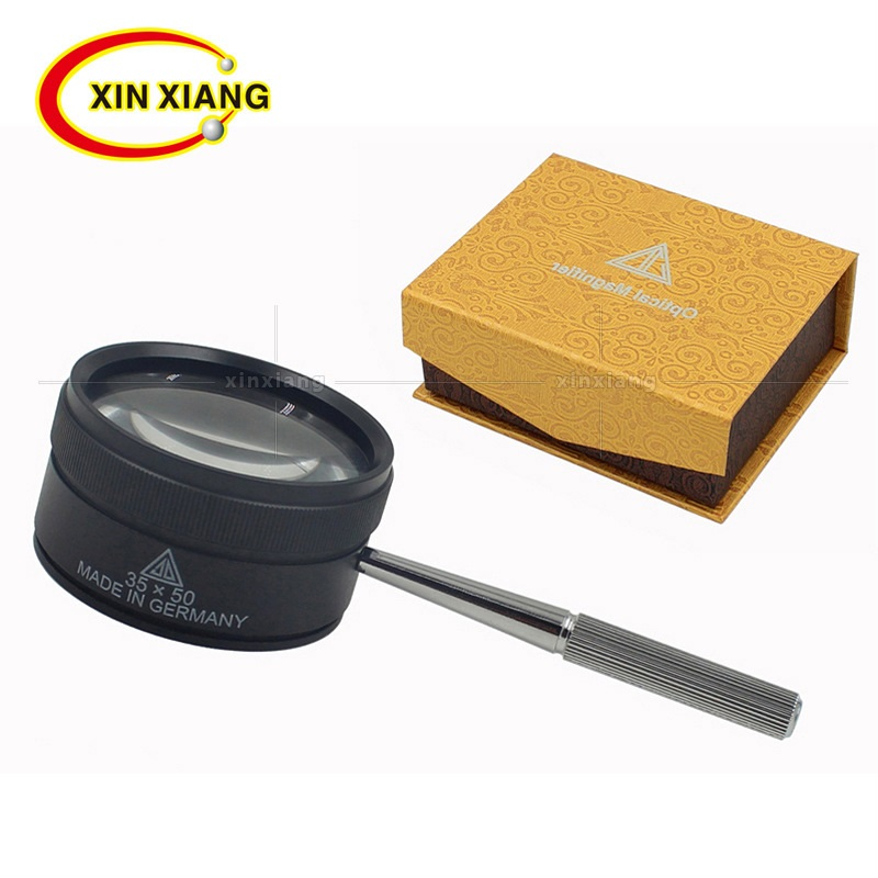35X Handheld Magnifier Metal Jewelry Loupe 73mm Handle Magnifying Glass Portable Magnifer Loupe Jeweler Glass Monocle Hand Lupe