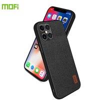 Per iPhone 11 Pro Max 12 Mini custodia in tessuto antiurto in Silicone MOFi Cover posteriore per Apple X XS XR 6 6S 7 8 Plus SE 2020 Slim Capas