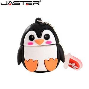 JASTER Cute penguin owl fox pen drive cartoon usb flash drive pendrive 4GB/8GB/16GB/32GB/64GB U disk animal memory stick gift