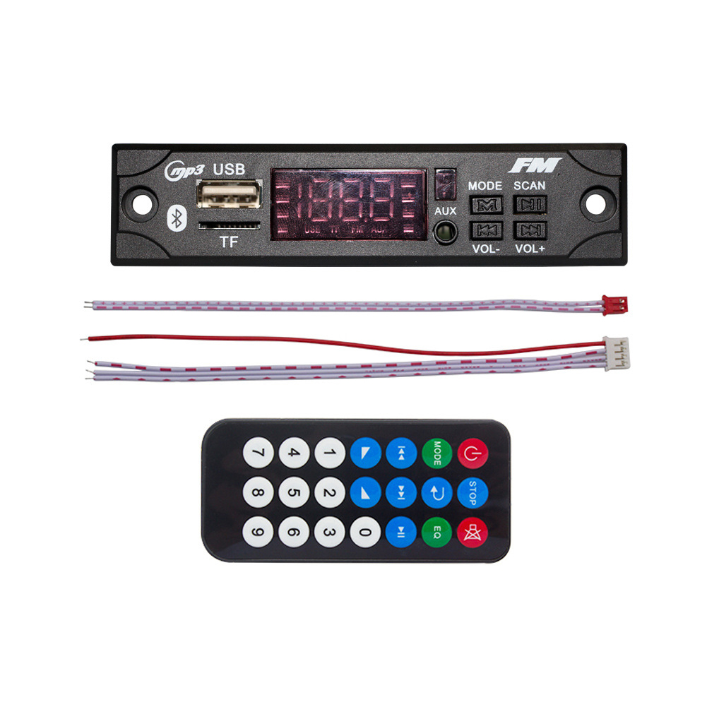 Radio-Decoder-Board-Parts Audio FM 12V for Car-Bluetooth-Module MP3 with Remote-Control