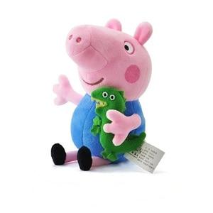 Image 4 - Original 4 Teile/satz Peppa Schwein George Tier Plüsch Spielzeug Familie Rosa Pepa Schwein Puppen Christma Geschenke Spielzeug Für Mädchen kinder