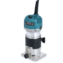Corded Trim-Router Laminate Base-Edge-Guide Wood Compact 800W 220V with Transparent Electric