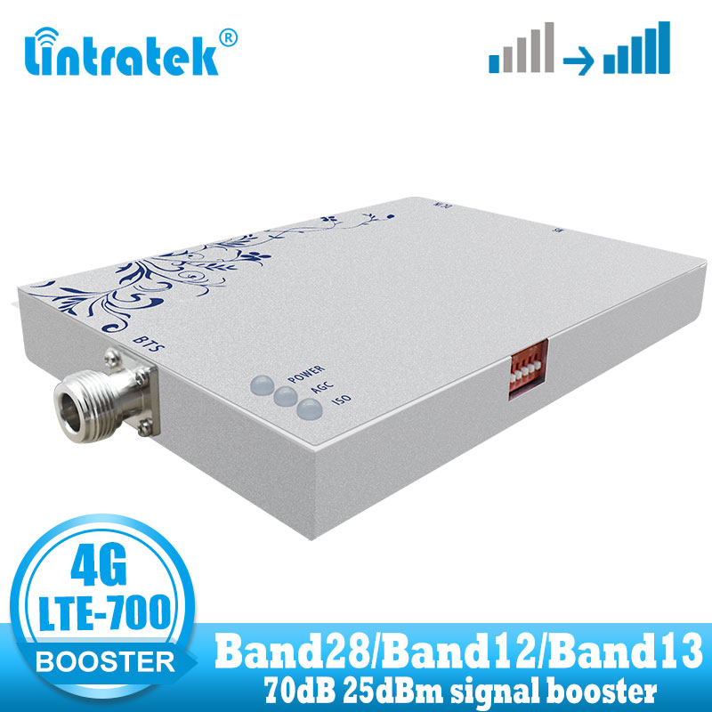 Lintratek LTE 700 Signal Booster Celluar Cell Phone Band 28 700mhz  4G Signal Repeater Amplifier 4G Internet Netwrok Amplifer