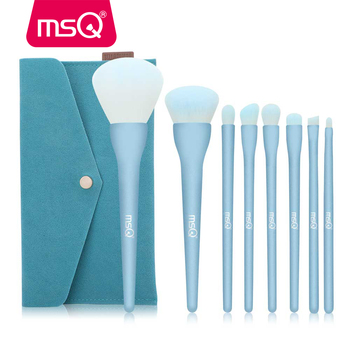 MSQ 8PCS Makeup Brushes Sets Powder Foundation Eyeshadow Blusher Professional Beauty Make Up Candy Cosmetic Tool With Bag
