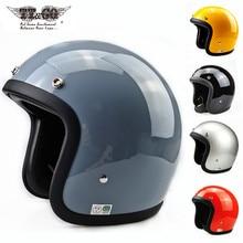 TT&CO Motorcycle Helmet Glass Fiber Light Retro Scooter Jet Open Face Motorbike TTCO Riding Capacete Moto 500TX TT