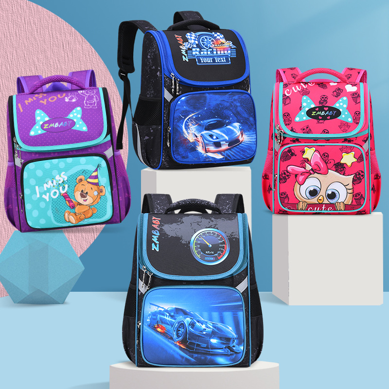 Orthopedic School Backpacks For Girls Cartoon Primary School Bags 1-4Grade Children Backpack School Bookbag Kids Satchel Boy Bag