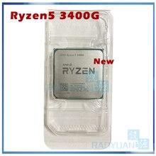 Neue AMD Ryzen 5 3400G R5 3400G 3,7 GHz Quad Core Acht Gewinde 65W CPU prozessor YD3400C5M4MFH Buchse AM4 Ohne Lüfter