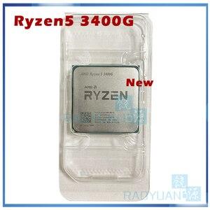 Image 1 - Nowy AMD Ryzen 5 3400G R5 3400G 3.7 GHz czterordzeniowy ośmiordzeniowy 65W procesor cpu YD3400C5M4MFH gniazdo AM4 bez wentylatora