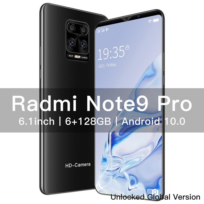 Новый мобильный телефон Xiomi Radmi Note 9 Pro 6,1 дюймов 4800 Батарея 8 + 13MP Камера глобальная версия смартфонов 6G 128 ГБ разблокированный телефон на ОС ...