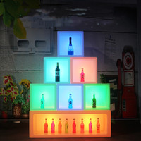 New led bar furniture colorful changed Rechargeable wine cabinet Waterproof glowing display case kTV bar disco party decorations