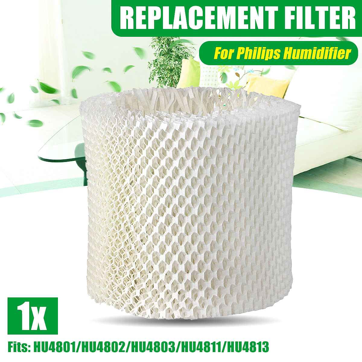 1Pcs Air Humidifier Filter Adsorb Bacteria And Scale Replacement Parts Filter Net For Philips HU4801 HU4802 HU4803 HU4811 HU4813