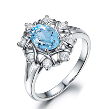 QYI Luxury Natural Sky Blue Topaz Engagement Rings Women 1.25 Ct Oval Cut Topaz Fine Jewelry 925 Sterling Silver Gemstone Rings