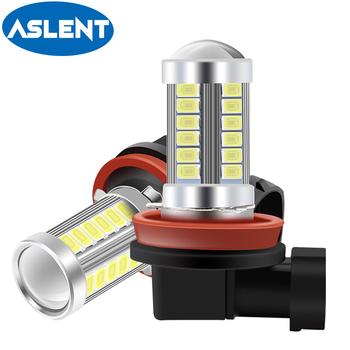 2 sztuk H8 H11 Led H16(JP) HB4 9006 HB3 9005 żarówka do lampy przeciwmgielnej 5630 33SMD 6000K biały jazdy samochodem reflektor do jazdy dziennej żarówki samochodowe Led światła 12V tanie i dobre opinie ASLENT 12 v CN (pochodzenie) 600LM bulb universal Car fog lights bulb tail lights bulb 33 chips H8 H11 H10 H16(jp) 9005 hb3 9006
