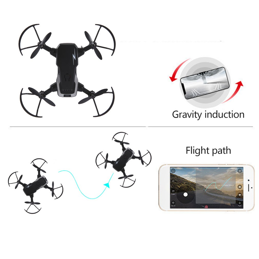 TXD G1 Foldable Mini RC Drone WiFi Altitude Hold One Key Takeoff 360-degree Stunt High/Low Speed Quadcopter Toy With 2MP Camera