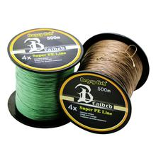Braided Fishing Line 4 Strands 500M 12-80LB PE Line Multifilament Saltwater Freshwater Smooth Floating Wire 300m fishing line braided line smooth multifilament 4 strands pe fishing line for saltwater fishing