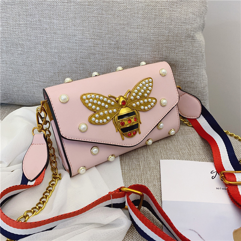 Bolsa Feminina 2019 Fashion New Fashion Brand Women's Little Bee Handbags Girl Chain Shoulder Bags Party Clutch Main A Sac Femme
