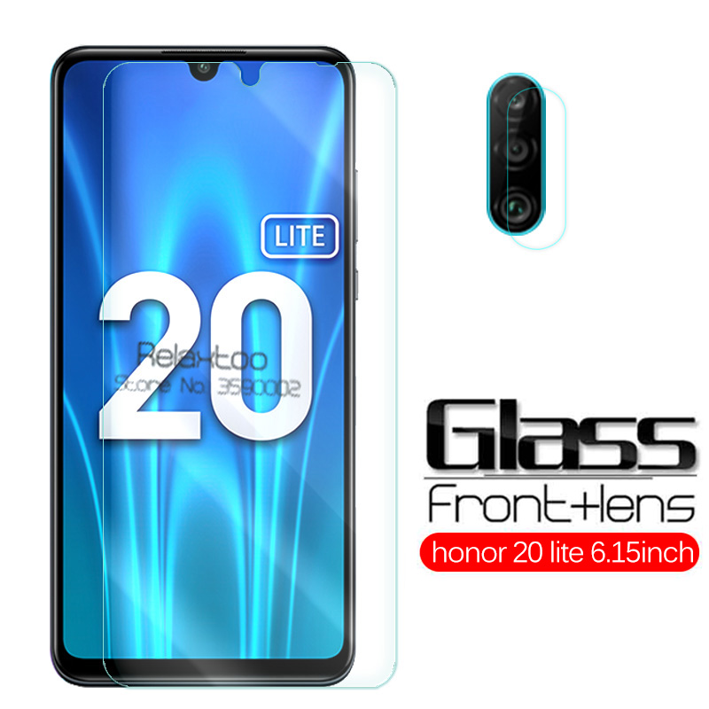 2 In 1 Glass Honor 20 Lite Protective Glass Honor 20 Light Camera Lens Screen Protector For Huawei Honor 20s MAR-LX1H 6.15 Film