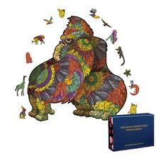 Original de madeira animal enigma mistério dos desenhos animados dragão 3d puzzle presente jogo interativo brinquedo adulto crianças educação frete grátis