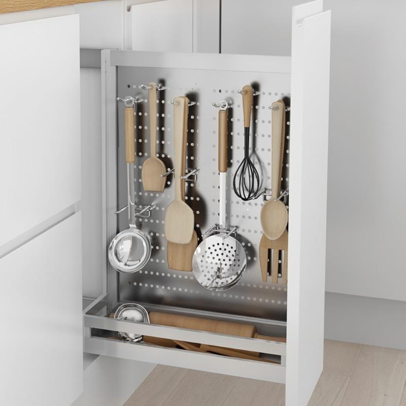 Accessories Drawer For Cupboard Rangement Cuisine Pantry Stainless Steel Cocina Cozinha Organizer Kitchen Cabinet Storage Basket Racks Holders Aliexpress