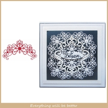 Flower Floral Lace Snowflake Line Frame Metal Cutting Dies DIY Scrapbook Craft Make Album Photos Decorate Cards Paper Stencils cute baby clothes bow lace leather belt button metal cutting dies diy scrapbook craft new stencils make cards embossing paper