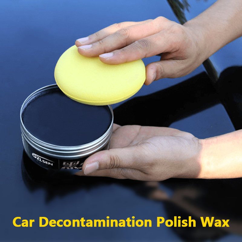 Car White Wax Plating Set Hard Glossy Wax Cystal Paint Surface Coating Care Plating Tiny Scratch Repair With Sponge And Towel