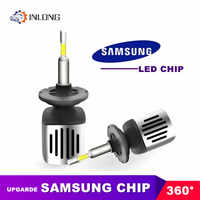 INLONG Car H7 H1 Led Headlight Bulbs 9005 9006 H4 H11 H8 H9 D2S D1S D3S Led Lamp SAMSUNG 11200LM Headlamp Fog Lights 5500K 6500K