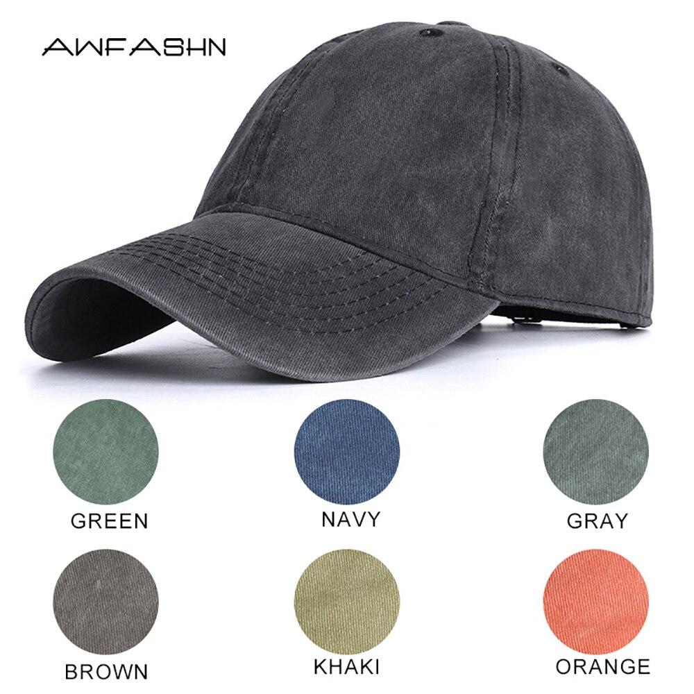 2020 High Quality Men Washed Cotton Baseball Cap Women Vintage Snapback Hat Adjustable Trucker Outdoor Caps Black Dad Hat Bone