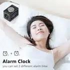 Stereo Bluetooth Speaker 20W LED Screen FM Radio Alarm Clock Home Desktop Wireless HiFi Mic Loudspeaker Bass Subwoofer Soundbox - 4