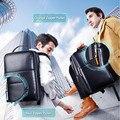 2018 BOPAI брендовый водонепроницаемый 15-дюймовый рюкзак для ноутбука  мужские рюкзаки для девочек-подростков  черный кожаный мужской школьный ...