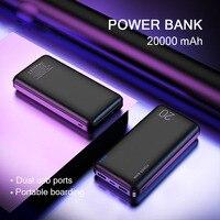 10000/20000mAh قوة البنك ل Xiao mi 9 8 العالمي Powerbank شاحن المزدوج Usb منافذ Pover البنك بطارية خارجية Poverbank-في شاحن متنقل من الهواتف المحمولة ووسائل الاتصالات على