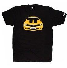 CUSTOM HTees T-shirt - CHEVROLET CAMARO 2010- , Pick car colour & plate T Shirt Men Tees Brand Clothing Funny