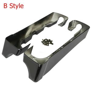 """Image 4 - Motorcycle 4"""" Double Cut Hard Saddlebag Extension For Harley Touring Road King Road Ultra Street Glide Electra Glide 1994 2013"""