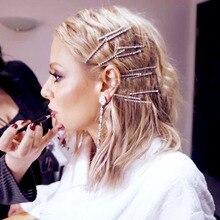 Hair-Styling-Tools-Accessories Barrettes Hairpins Metal Rhinestone Crystal Girls Women