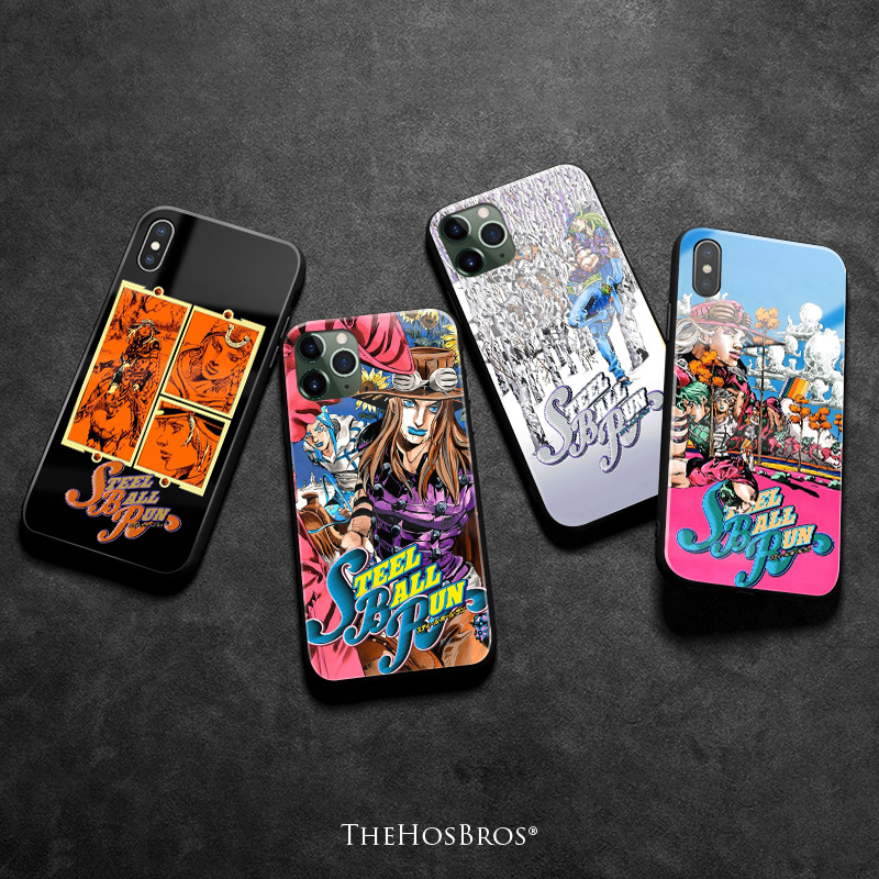 JOJO Part 7 Steel Ball Run SBR anime Soft silicone glass Phone case cover shell for iPhone 6 6s 7 8 Plus X XR XS 11 Pro Max image