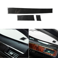 Carbon Fiber Central Control Instrument Console Panel Cover Trim for BMW E60 2004 10 Styling Mouldings    -