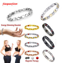 Healthy Magnetic 4 IN 1 Body Slimming Weight Loss Anti-Fatigue Healing Bracelet Hematite Beads Stretch Bracelet Magnetic Therapy