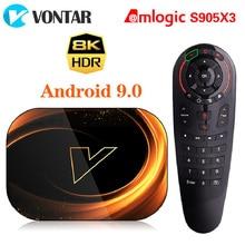 2020 VONTAR X3 8K Amlogic S905X3 4GB RAM 64GB טלוויזיה תיבת אנדרואיד 9.0 להגדיר תיבה עליונה 1000M הכפול Wifi 4K Youtube חכם טלוויזיה תיבה