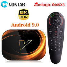 2020 vontar x3 8k amlogic s905x3 4gb ram 64gb caixa de tv android 9.0 conjunto caixa superior 1000m duplo wifi 4k youtube caixa de tv inteligente