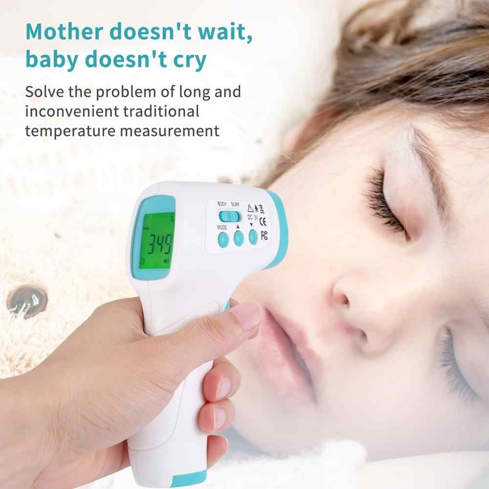 Handheld Draagbare Non-contact Voorhoofd Temperaturer Pistool Hoge Precisie Lcd Digitale Infrarood Thermometer Voedsel Thermometer