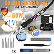 Soldering Iron 60W 220V Soldering Tools Soldering Iron Tip Adjustable Temperature Electric Solder Kit With Toolbox
