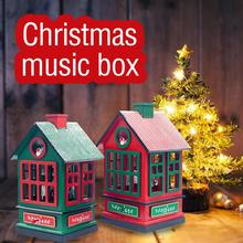 Christmas Carousel Musical Box House Shape Musical Box Kids Gift Rotating Horse Crafts Home Decoration Children Toy все цены