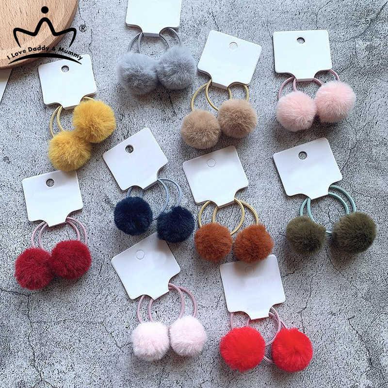 3Pcs//Set Baby Girl Headband Lace Flower Bows Pompom Kids Elastic Hair Band