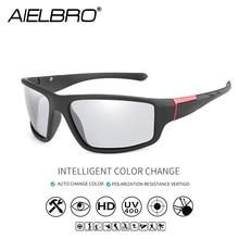 Photochromic Sunglasses Men Polarized Driving Chameleon Glasses Women Change Color SunGlasses Day Night Vision Eyewear